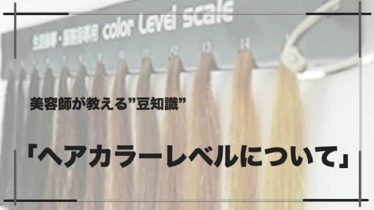 カラーの「ヘアカラーレベル」について|美容師が専門用語を分かりやすく解説