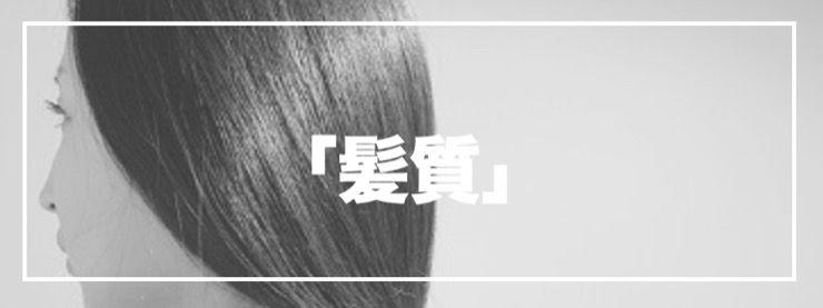 髪にある「髪質」について