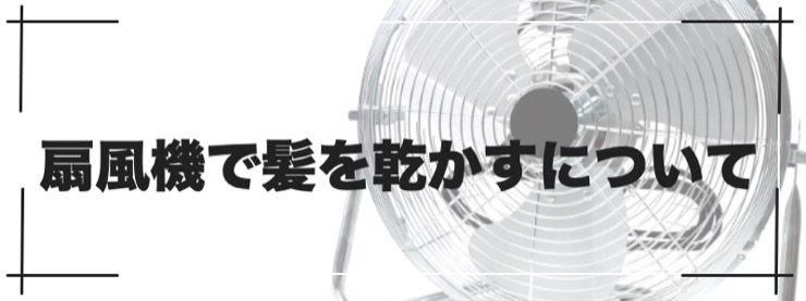 扇風機で髪を乾かすについて