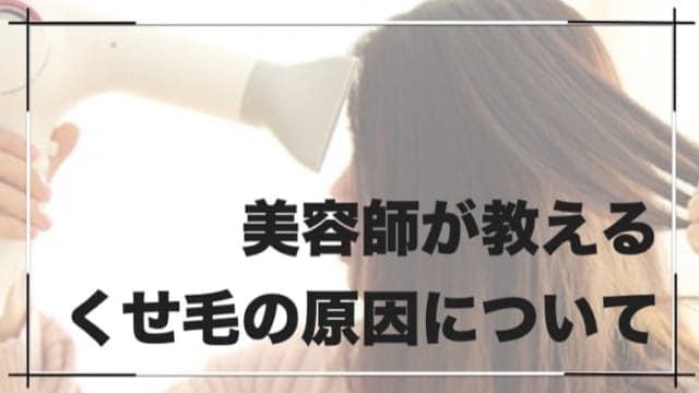 美容師が教えるくせ毛やうねりの「原因」について