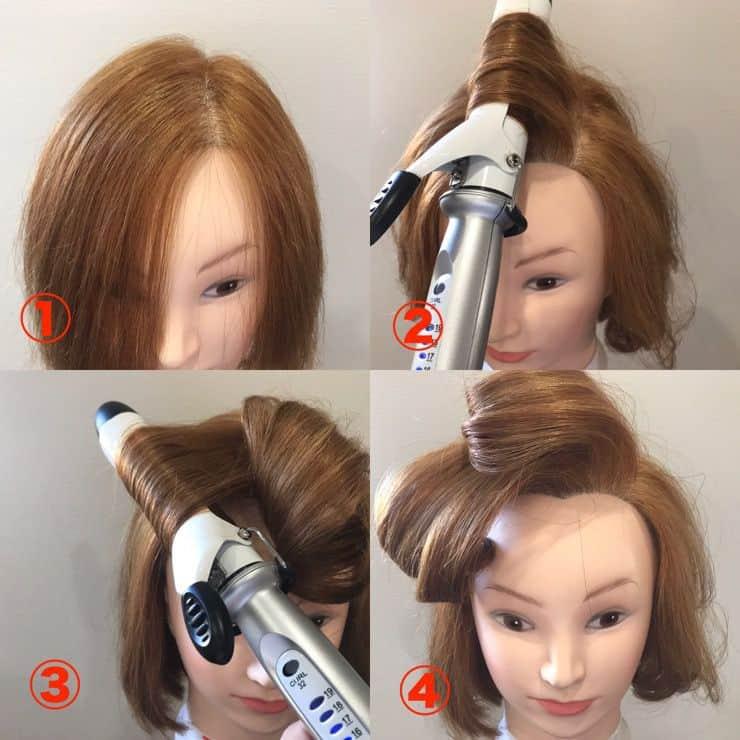 かきあげ前髪テクニック③:ブロー+アイロン
