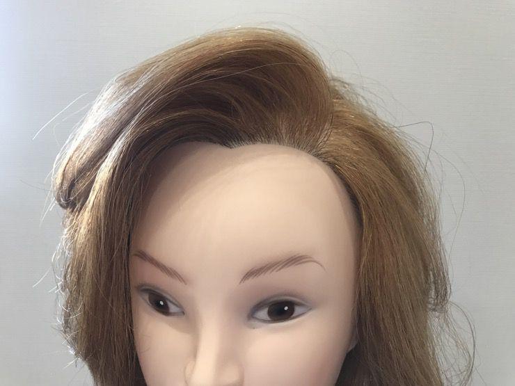 かきあげ前髪テクニック②:ブロー+カーラー